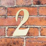 Hausnummer groß - Türschild Briefkasten Schild mit Gravur im Antik-Look - 16cm Gold / Bronze