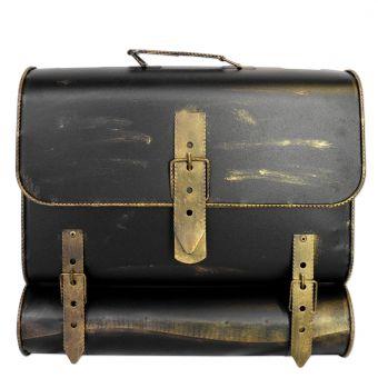 Briefkasten Schwarz-Gold-Bronze Schulranzen Antik - Look