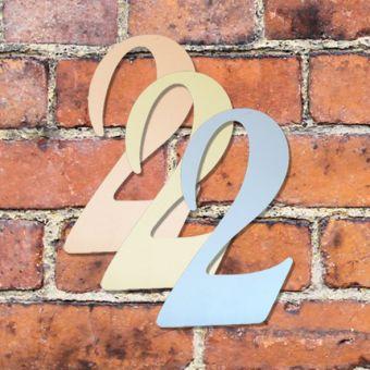Hausnummer groß - Türschild Briefkasten Schild mit Gravur im Antik-Look - 16cm