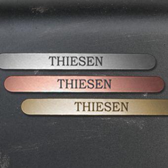 Namensschild Türschild Briefkasten Schild mit Gravur im Antik-Look Lang