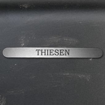 Namensschild Türschild Briefkasten Schild mit Gravur im Antik-Look Lang Silber / Edelstahl