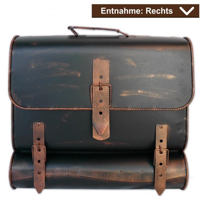 Briefkasten Kupfer Schulranzen Antik - Look - Rechts
