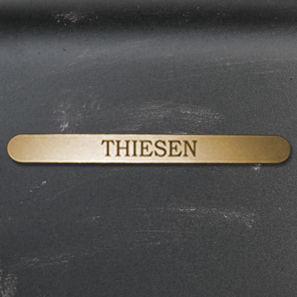 Namensschild Türschild Briefkasten Schild mit Gravur im Antik-Look Lang Gold / Bronze