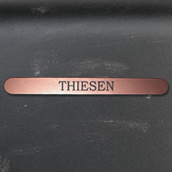 Namensschild Türschild Briefkasten Schild mit Gravur im Antik-Look Lang - Kupfer