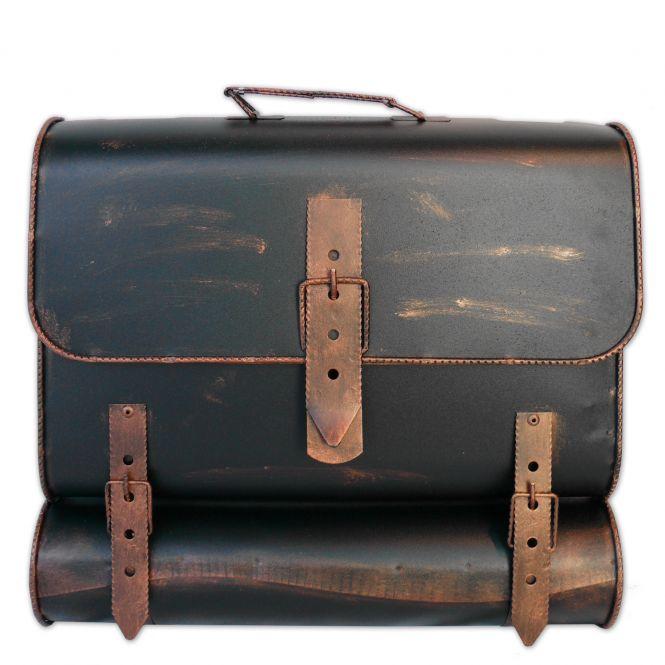 Briefkasten Kupfer Schulranzen Antik - Look