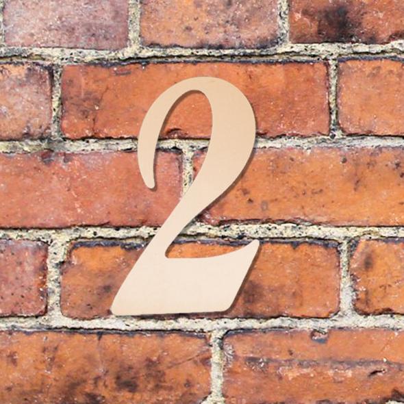 Hausnummer groß - Türschild Briefkasten Schild mit Gravur im Antik-Look - 16cm Kupfer